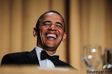 President Barack Obama reacts to a joke told by comedian Conan O'Brien