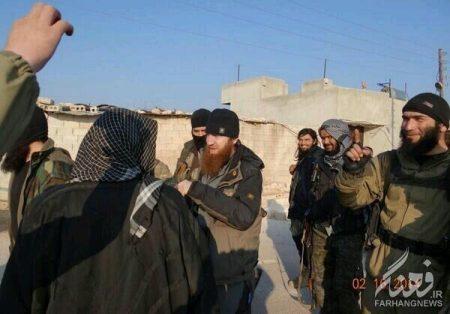 «ابومحمد الامریکی» در شهر «اعزاز» همراه با «ابو عمر الشیشانی»