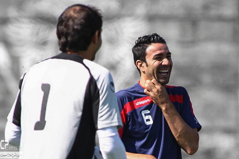 عکس های تمرین تیم ملی ایران در کمپ باشگاه کورینتیانس شهر سائوپائولو