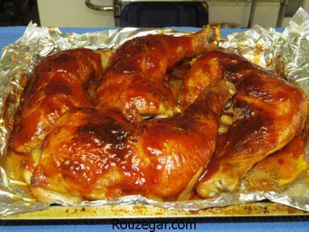 طریقه درست کردن مرغ در توستر