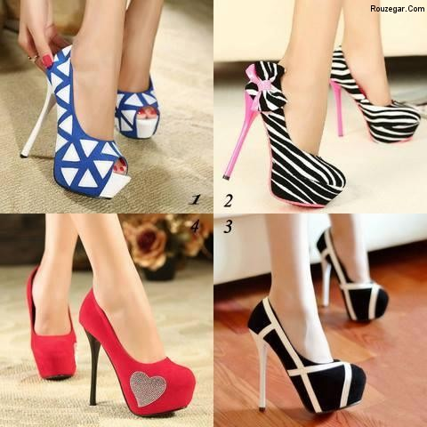 New Trend High Heel Girls Shoes 2014 زیباترین مدلهای مدل کفش مجلسی نوروز 94
