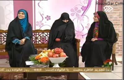 مژده لواسانی و پدر و مادرش در تلویزیون / عکس