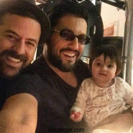 هومن سیدی و همسر دومش,عکس هومن سیدی و فرزند جدیدش,حامد بهداد در کنار نیل دختر هومن سیدی