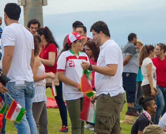 عکس تماشاگران ایرانی در جام ملت های آسیا 2015 سری دوم