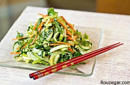 salad of Chinese Pak Choi