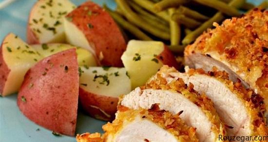 غذای فرانسوی خوراک مرغ پیاز