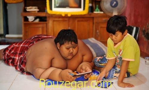 چاق ترین پسر دنیا
