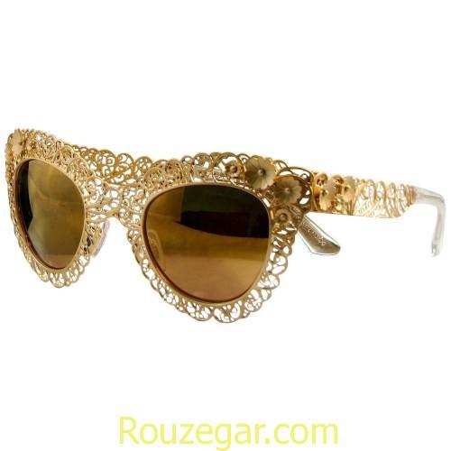 مدل عینک گل دار آفتابی، مدل عینک آفتابی زنانه، عینک آفتابی شیک زنانه