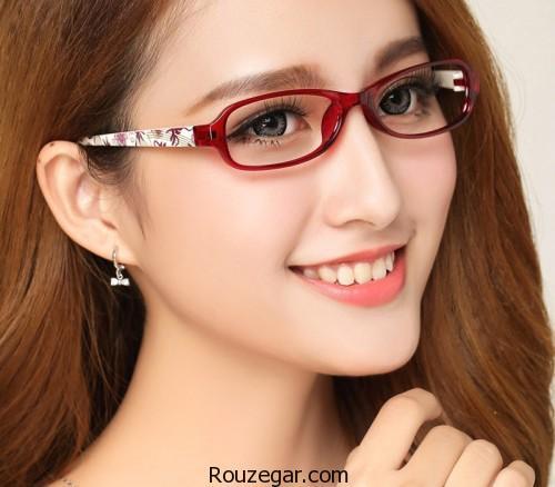 مدل عینک طبی برای صورت گرد، عینک طبی، مدل عینک طبی زنانه