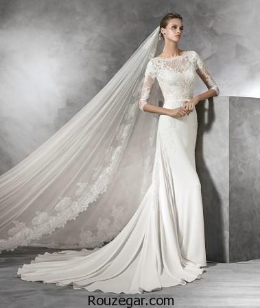 مدل لباس عروس اروپایی، مدل لباس عروس اروپایی آستین دار