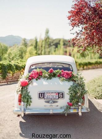 عکس ماشین عروس، مدل تزیین ماشین عروس، عکس ماشین عروس 2017