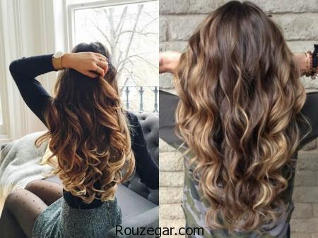 مدل رنگ مو، مدل رنگ مو قهوه ای، مدل رنگ مو قهوه ای با هایلایت، مدل رنگ مو 2017، مدل رنگ مو 96