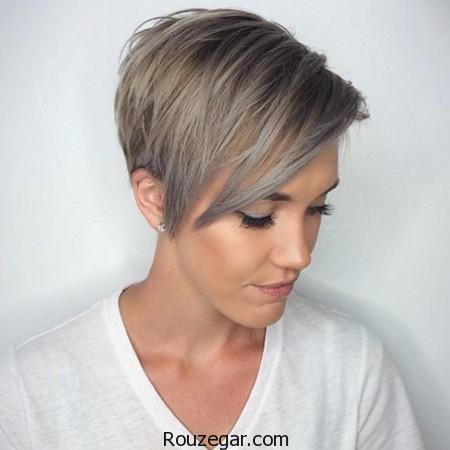 مدل مو کوتاه زنانه، مدل مو کوتاه زنانه 2017، مدل مو کوتاه زنانه 96،مدل مو کوتاه زنانه با رنگ نقره ای