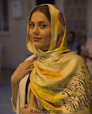 تیپ متفاوت آزاده زارعی, آزاده زارعی,تیپ متفاوت آزاده زارعی با شال ایرانی