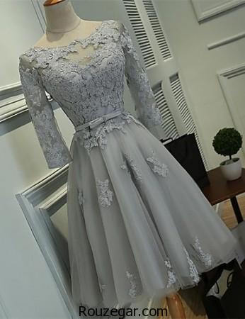 مدل لباس مجلسی عروسکی آستین بلند