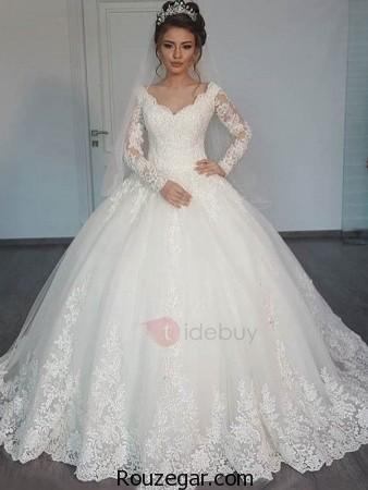 مدل لباس عروس پوشیده، مدل لباس عروس پوشیده جدید، مدل لباس عروس 2017، مدل لباس عروس پوشیده شیک