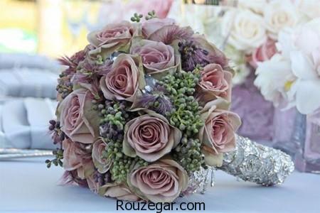 دسته گل عروس اروپایی، دسته گل عروس، مدل دسته گل عروس جدید، مدل دسته گل عروس 2017