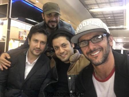 عکس دیده نشده شاهرخ استخری ,شاهرخ استخری ,شاهرخ استخری در فرودگاه