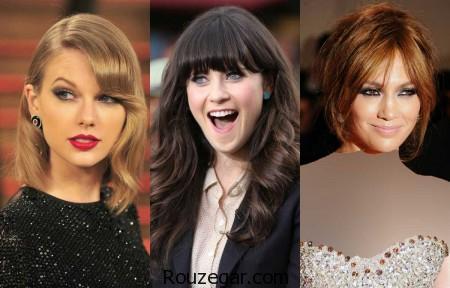 مدل مو چتری ستارگان هالیوود،  مدل مو چتری ،  مدل مو چتری دخترانه، مدل مو چتری زنانه