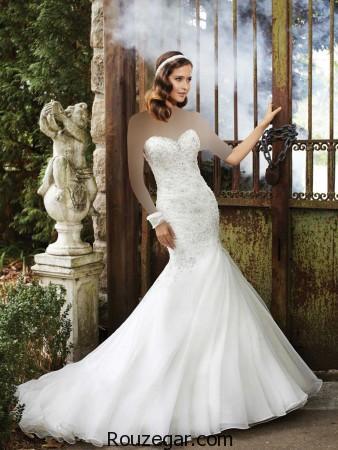 لباس عروس،  لباس عروس مدل ماهی،  لباس عروس دنباله دار