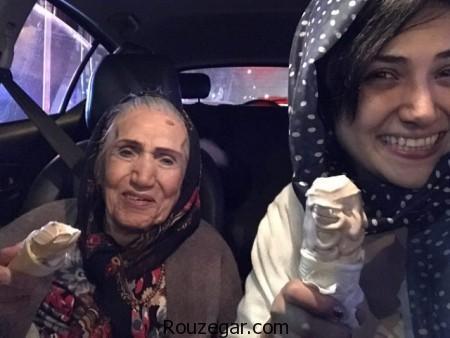 عکس جدید باران کوثری در کنار ماماشمسى,باران کوثری, ماماشمسى,مادربزرگ باران کوثری