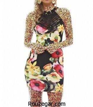 شیک ترین مدل لباس مجلسی کوتاه زنانه 2017