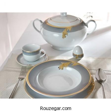 ظروف غذاخوری چینی زرین، ظروف چینی زرین، سرویس غذاخوری چینی زرین،  چینی زرین