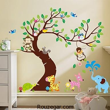 مدل استیکر اتاق کودک، مدل استیکر اتاق نوزاد،مدل استیکر دیوار