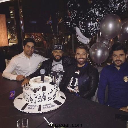 تولد محمد گلزار در نوروز 96,محمد گلزار,عکس کیک تولد محمد گلزار,کیک تولد محمد گلزار