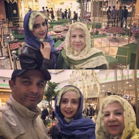 شبنم قلی خانی,عکس شبنم قلی خانی به همراه مادرش,عکس شبنم قلی خانی,
