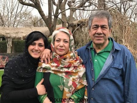 باران کوثری در کنار مادر پدرش در سال جدید,باران کوثری