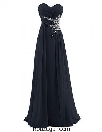 مدل لباس شب بلند 2017 و لباس شب گیپور