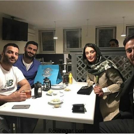هدیه تهرانی در کنار خواننده رپ یاس ,خواننده رپ یاس ,یاس ,هدیه تهرانی