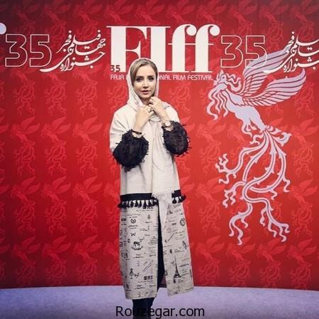 مدل مانتو خاص شبنم قلی خانی در جشنواره جهانی فیلم فجر,جشنواره جهانی فیلم فجر,شبنم قلی خانی