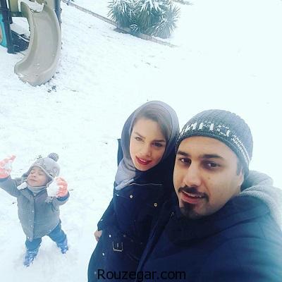 عکس های زیبای احسان خواجه امیری همراه با همسر و پسرش,عکس احسان خواجه امیری و پسرش
