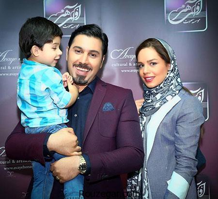 عکس های زیبای احسان خواجه امیری همراه با همسر و پسرش