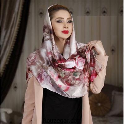 زیباترین و جدیدترین مدل های شال و روسری 96 - 2017