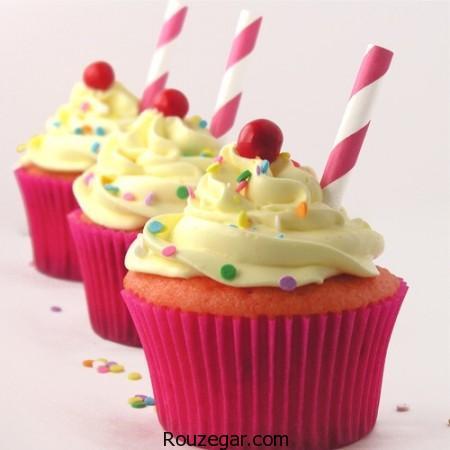 طرز تهیه کاپ کیک + ایده هایی نو برای تزیین کاپ کیک،اموزش تزیین کاپ کیک،تزیین کاپ کیک بدون خامه،تزیین کاپ کیک با ژله،تزیین کاپ کیک با فوندانت،تزیین کاپ کیک با شکلات،تزیین ساده کاپ کیک،تزیین کاپ کیک با خامه،طرز تهیه خامه روی کاپ کیک
