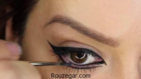 آموزش کشیدن خط چشم دخترانه 96 + خط چشم زیبا و ساده،آموزش خط چشم دخترانه،کشیدن خط چشم برای چشمهای ریز،آموزش کشیدن خط چشم مایع،آموزش کشیدن خط چشم تصویری،خط چشم ساده