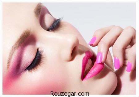 آرایش صورتی + مدل آرایش صورت به رنگ صورتی،آرایش صورتی ملایم،آرایش گلبهی،آرایش مناسب با لباس صورتی،رژ صورتی مات،رنگ موی مناسب با لباس صورتی،ارایش مناسب با لباس گلبهی،عکس رژگونه هلویی،آرایش چشم