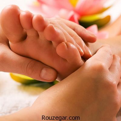 معجزه ماساژ پا با روغن