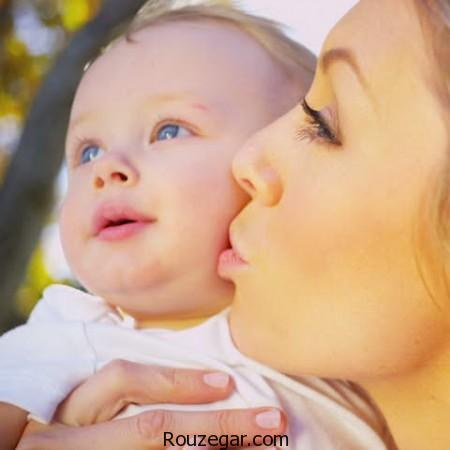 کاهش استرس کودکان با بوسیدن