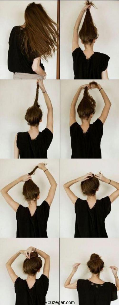 آموزش تصویری بستن مدل موی گوجه ای + عکس،نحوه بستن مدل موی گوجه ای،مدل موی خیاری،مدل مو گوجه ای دخترانه،مدل مو گوجه ای با جوراب،شینیون گوجه ای،آموزش مدل مو گوجه ای جدید،اموزش بستن مو با بامتل،مدل موی گل رز