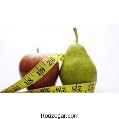 کاهش وزن با گلابی و سیب