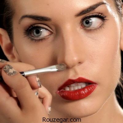 پنهان کردن برآمدگی بینی با آرایش