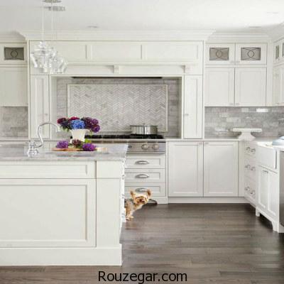 طراحی دکوراسیون آشپزخانه مدرن و روشن