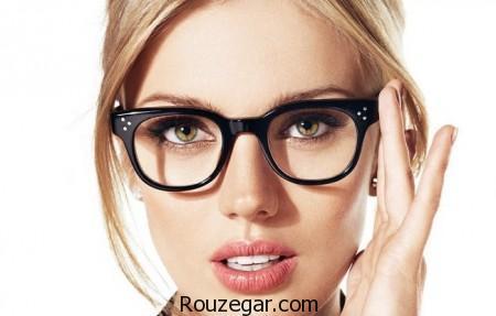 پیشنهاد آرایشی ساده اما شیک برای خانم های عینکی،ارایش با عینک،خط چشم برای افراد عینکی