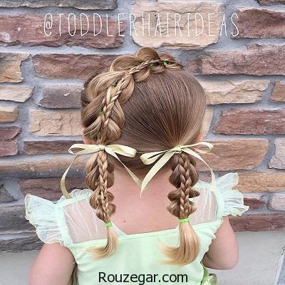 زیباترین مدل موی بچگانه دخترانه