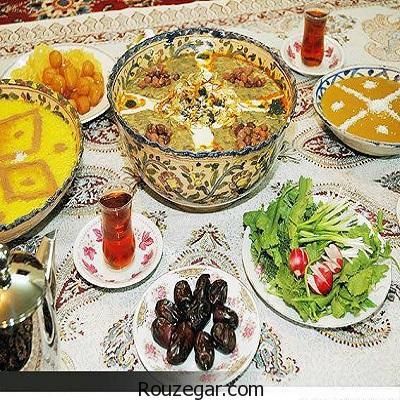 رژیم غذایی مناسب ماه رمضان برای کاهش وزن