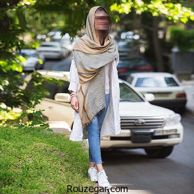 زیباترین و شیک ترین مدل شال و روسری زنانه و دخترانه 1396، 2017